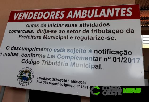 Prefeitura de itaipulândia orienta vendedores ambulantes a se regularizarem