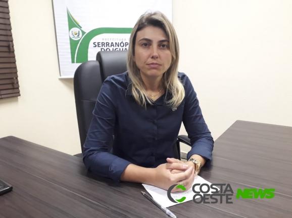 Prefeita de Serranópolis diz que situação financeira do município é muito boa
