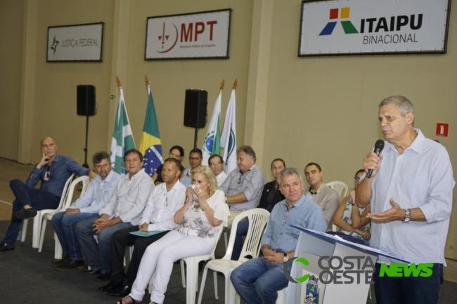 Ex-prefeito de Foz do Iguaçu dá nome a ginásio de esportes da Guarda Mirim