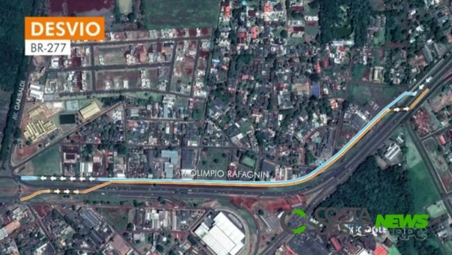 Interdição na BR-277 para obra do viaduto na Avenida Costa e Silva é adiada