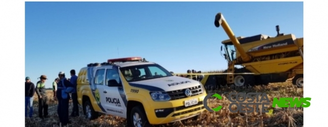 Adolescente de 15 anos morre após ser atropelado por maquinário agrícola