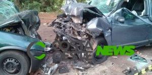 Duas pessoas morrem em acidente na PR-488 em Vera Cruz do Oeste
