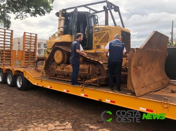 Primeiro grande comboio de maquinários para obras da Ponte da Integração chega ao Paraguai