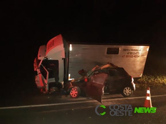 Motorista morre em colisão frontal na BR-277 em Matelândia