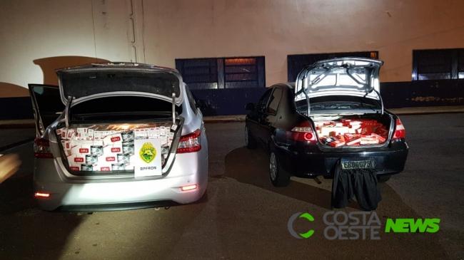 Veículos com contrabando são apreendidos pelo BPFron em Vera Cruz do Oeste