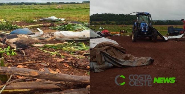 Vídeo: Tornado causa estragos em Serranópolis do Iguaçu