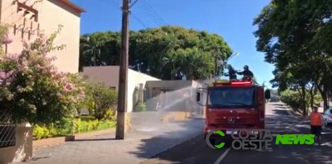 Matelândia começa higienizar ruas da cidade para ajudar no combate ao Covid-19