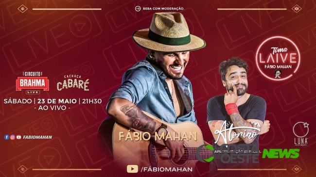 ?? hoje: ???Toma Laive??? Fábio Mahan com participação especial do comediante Alorino Jr