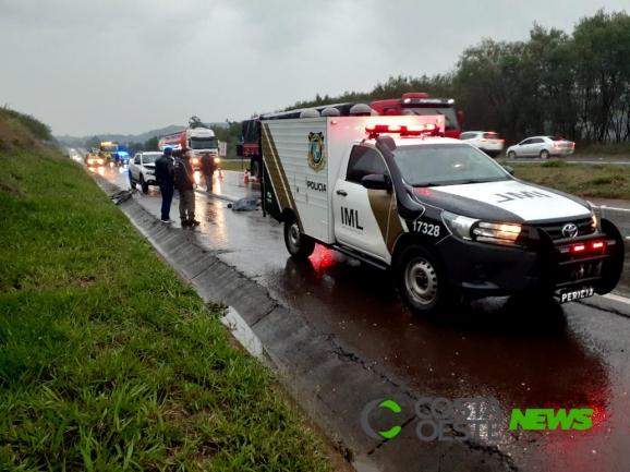 Acidente com vítima fatal é registrado na BR-277, em Matelândia