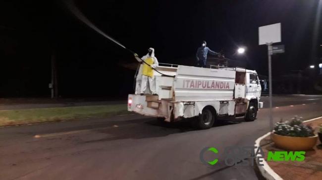 Covid-19: Trabalho para desinfetar as ruas continua em Itaipulândia