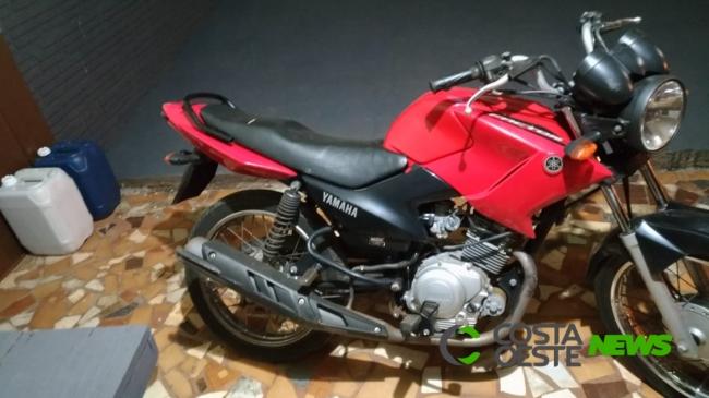 PM de Diamante do Oeste recupera motocicleta furtada em Santa Helena e detém duas pessoas