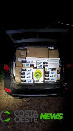 BPFron apreende veículo com cigarros contrabandeados em São José das Palmeiras