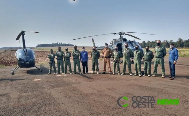 Base do grupamento aéreo da Polícia Civil é instalada em São Miguel do Iguaçu