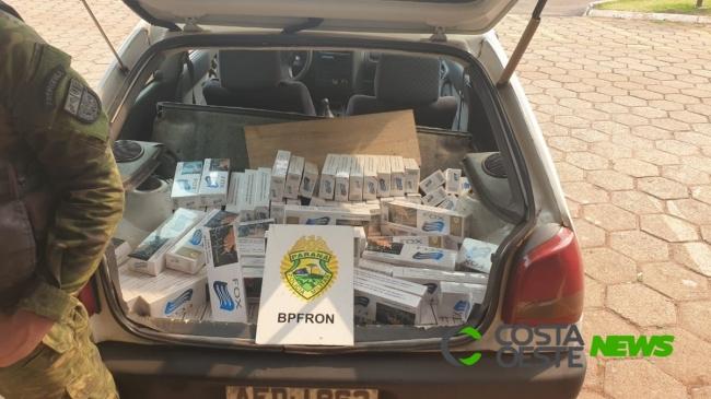 Carga de cigarro que saiu de Pato Bragado é apreendida pelo BPFron em Toledo; um foi preso