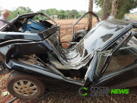 Grave acidente deixa duas vítimas fatais em Palotina; veículo tem placas de Guaíra
