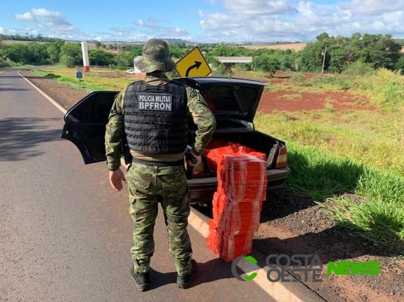 BPFron apreende veículo, maconha e detém uma pessoa em Entre Rios do Oeste
