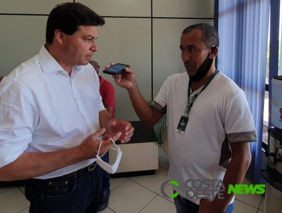 Secretário de Infraestrutura e Logística, Sandro Alex visita Guaíra