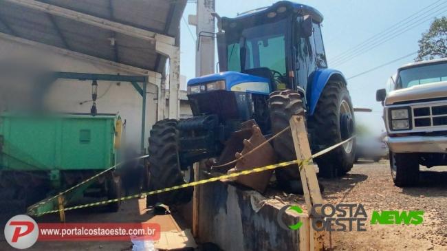 Mecânico morre ao ser atingido por trator em Santa Terezinha de Itaipu