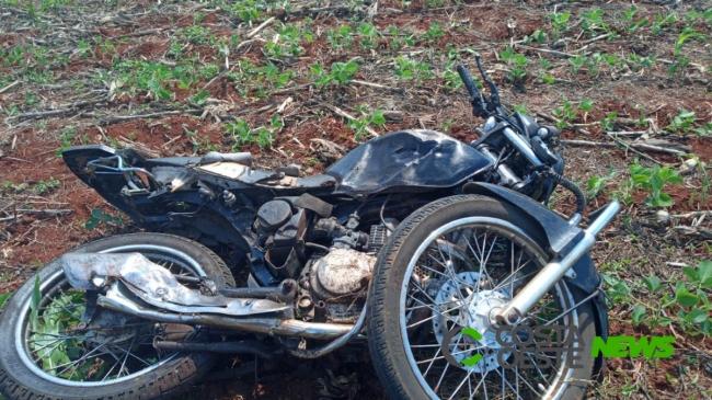 Motociclista tem perna decepada em acidente na PR 495 entre Santa Helena e Entre Rios do Oeste