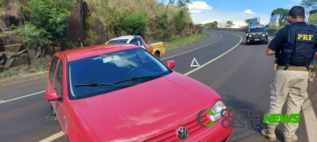 Acidente é registrado na curva da Serra do Mico em São Miguel do Iguaçu