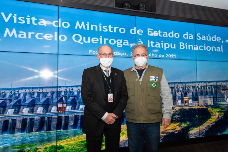 Ministro da Saúde agradece apoio da Itaipu no combate à pandemia da covid-19. Crédito: Rubens Fraulini/Itaipu Binacional