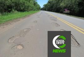 Rodovias que cruzam Santa Helena se tornaram intransitáveis e inseguras