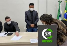 Assinatura contrato obras medianeira 19-07-2021