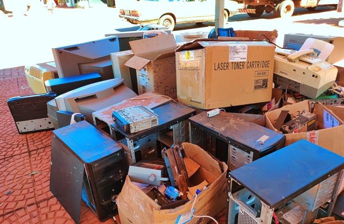 1ª Recolha de Lixo Eletrônico de 2021 tem participação ativa da população de Itaipulândia