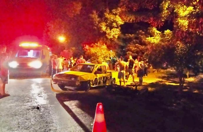 Acidente entre carro e moto deixa duas pessoas feridas em bairro de Santa Helena