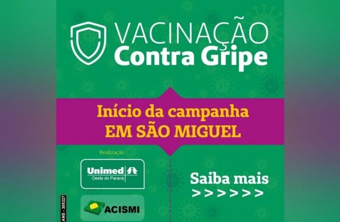 ACISMI E UNIMED fecham parceria para vacinação contra a gripe