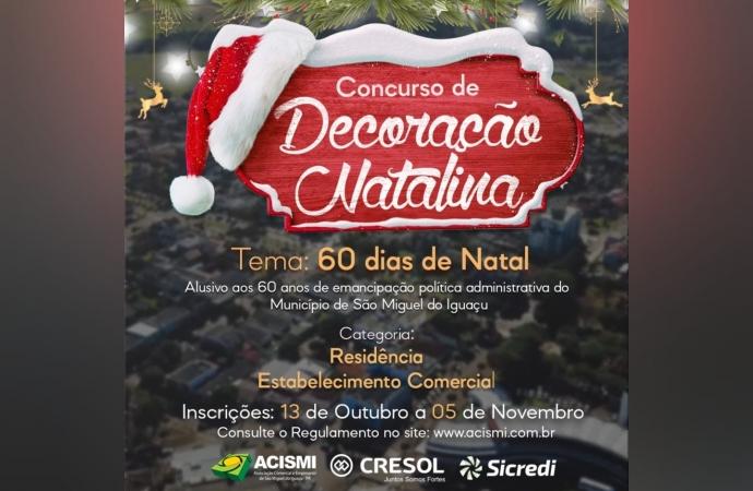 """ACISMI lança o Concurso """"Decoração Natalina de Vitrine e Residência 2021"""""""