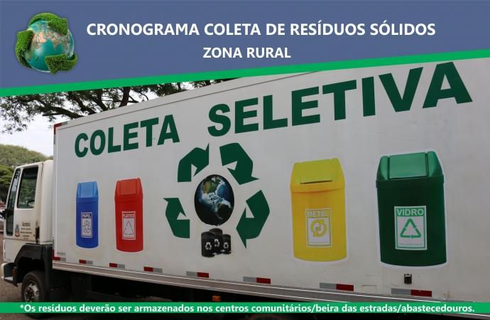 Agricultura inicia coleta de recicláveis na zona rural de Medianeira