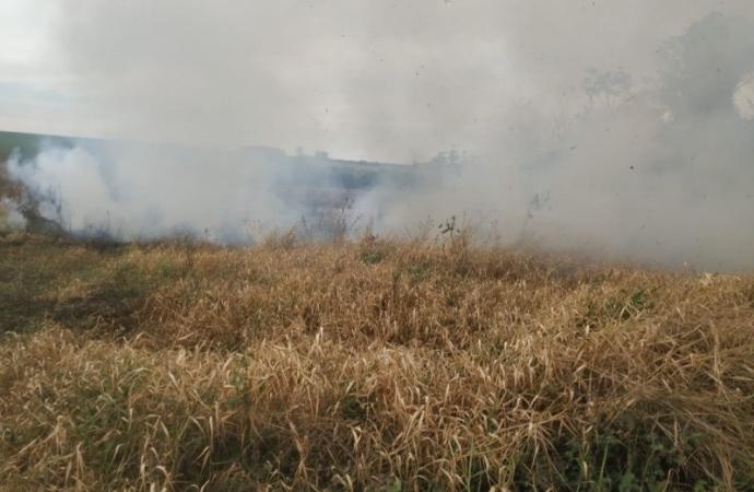Bombeiros combatem incêndio de grandes proporções no interior de Guaíra e fazem alerta