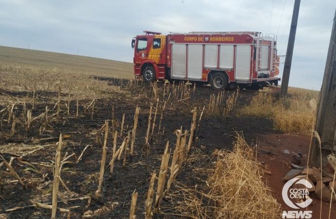 Bombeiros são acionados para combater incêndio em Santa Helena
