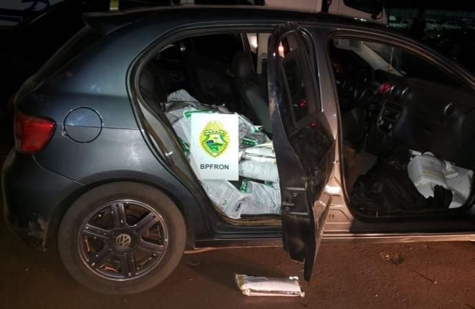 BPFron apreende carro carregado com agrotóxicos contrabandeados em Diamante do Oeste