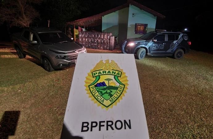 BPFRON apreende cigarros contrabandeados em Itaipulândia durante Operação Hórus