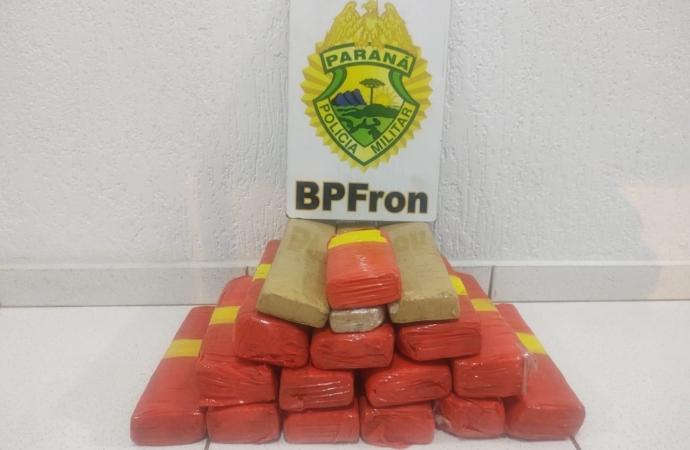 BPFRON apreende droga durante abordagem em Matelândia