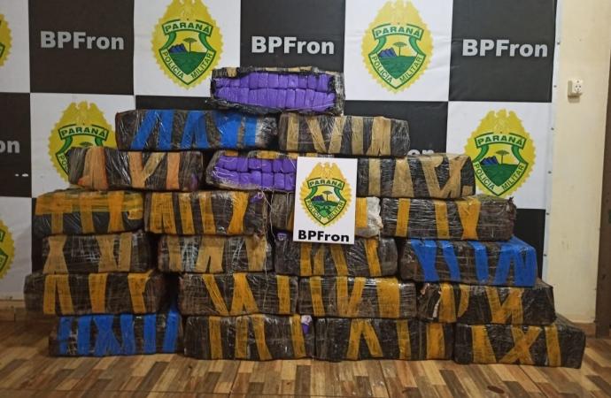 BPFron apreende mais de 300kg de maconha em Guaíra