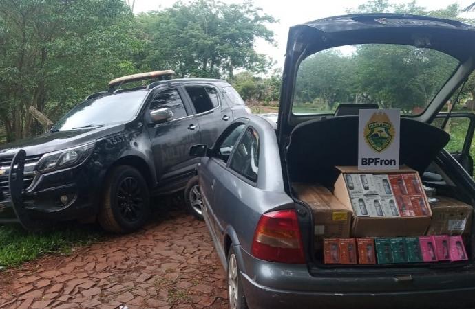 BPFRON apreende produtos contrabandeados em Santa Terezinha do Itaipu