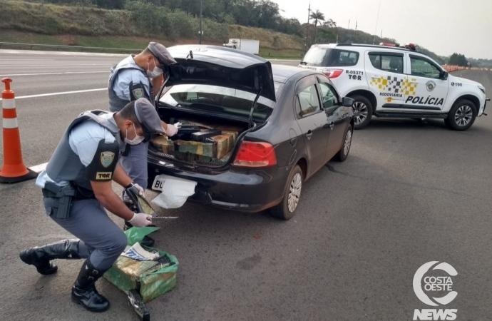 Bragadense de 20 anos é preso em São Paulo com mais de 300 Kg de maconha em veículo