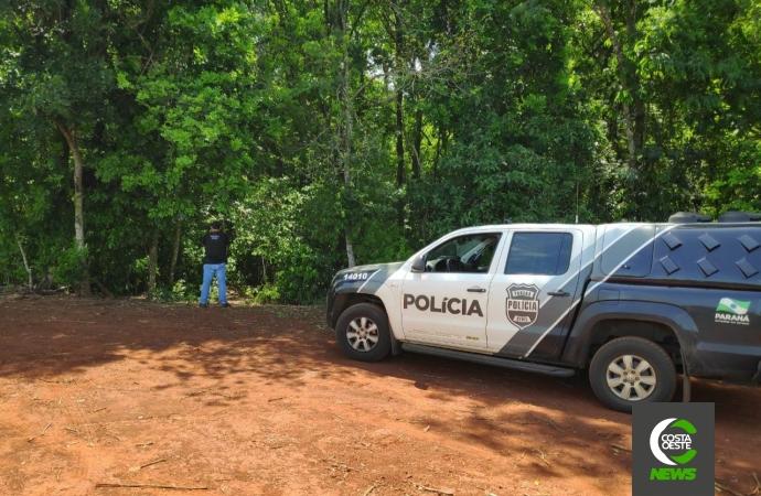 Cadáver é localizado no interior de Santa Helena. Suspeita é de que o corpo seja de jovem desaparecido