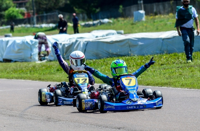 Caio Zorzetto vai ao pódio em duas categorias no Sul-Brasileiro de Kart