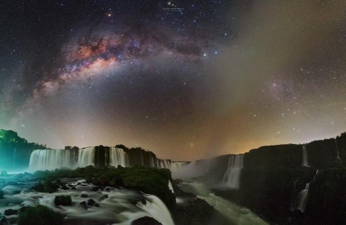 Cataratas do Iguaçu compõe registros celestiais inéditos