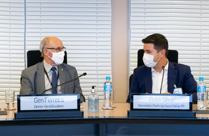 Chefe da Casa Civil se reúne com a diretoria da Itaipu e agradece o apoio da empresa ao Paraná