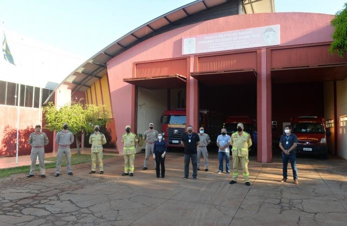 Comando do Estado do Paraná visita sede do Corpo de Bombeiros de Santa Terezinha de Itaipu