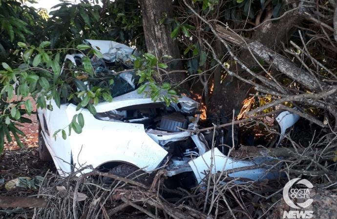 Condutor morre em acidente na PR-495 entre Medianeira e Serranópolis do Iguaçu