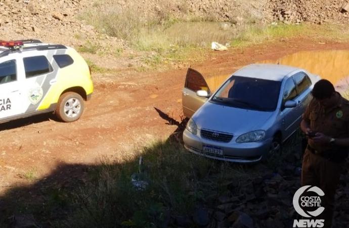 Corolla levado durante assalto em Vera Cruz do Oeste é recuperado em Céu Azul