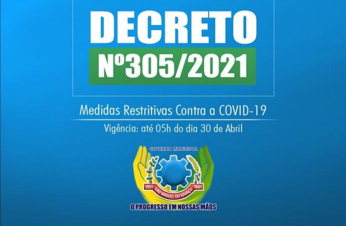 Decreto em São Miguel do Iguaçu mantém medidas preventivas até o dia 30 de abril