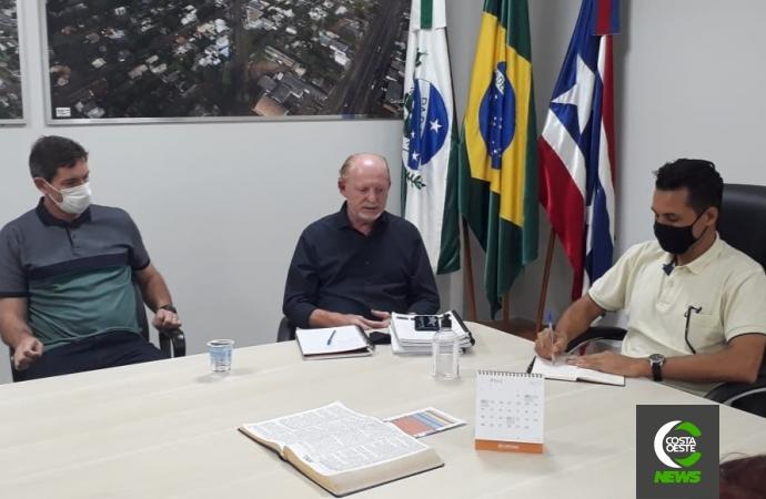Deputado Vermelho visita Medianeira e tem encontro com o prefeito França