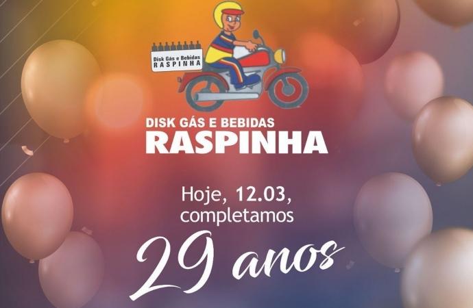 Disk Gás e Bebidas do Raspinha celebra 29 anos e agradece amigos e clientes